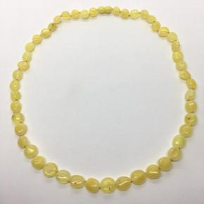 Mat Sarı Renkte Zeytin Taşlı Kehribar Kolye Büyük Boy 0049