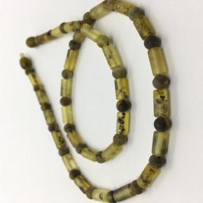 Mat Açık ve Koyu Yeşil Renk Renk Silindir ve Tam Yuvarlak Kesim Kolye Büyük Boy 0129