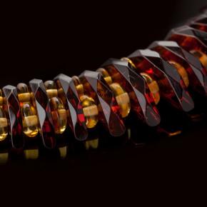 Koyu Konyak Kahverengi ve Limon Rengi Tasarım Ürünü Gerdanlık Kolye Büyük Boy 0162